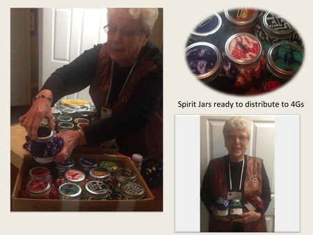 Jean's Spirit Jars ready for distribution