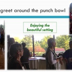 Meet and greet around the punch bowl