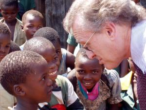 Stephen with Childen in Swazi